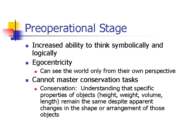 essay on preoperational stage